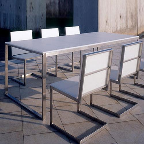gandia blasco mesa luna modern outdoor dining table stardust