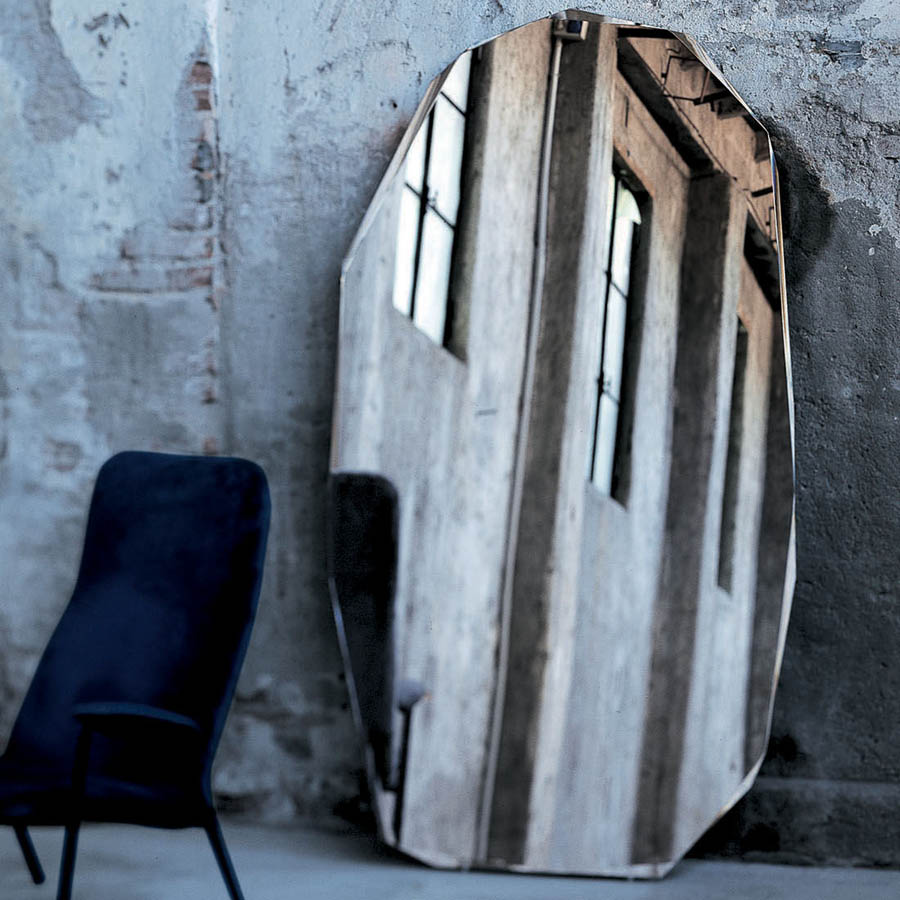 Glas Italia Kooh I Noor Modern Floor Standing Mirror By