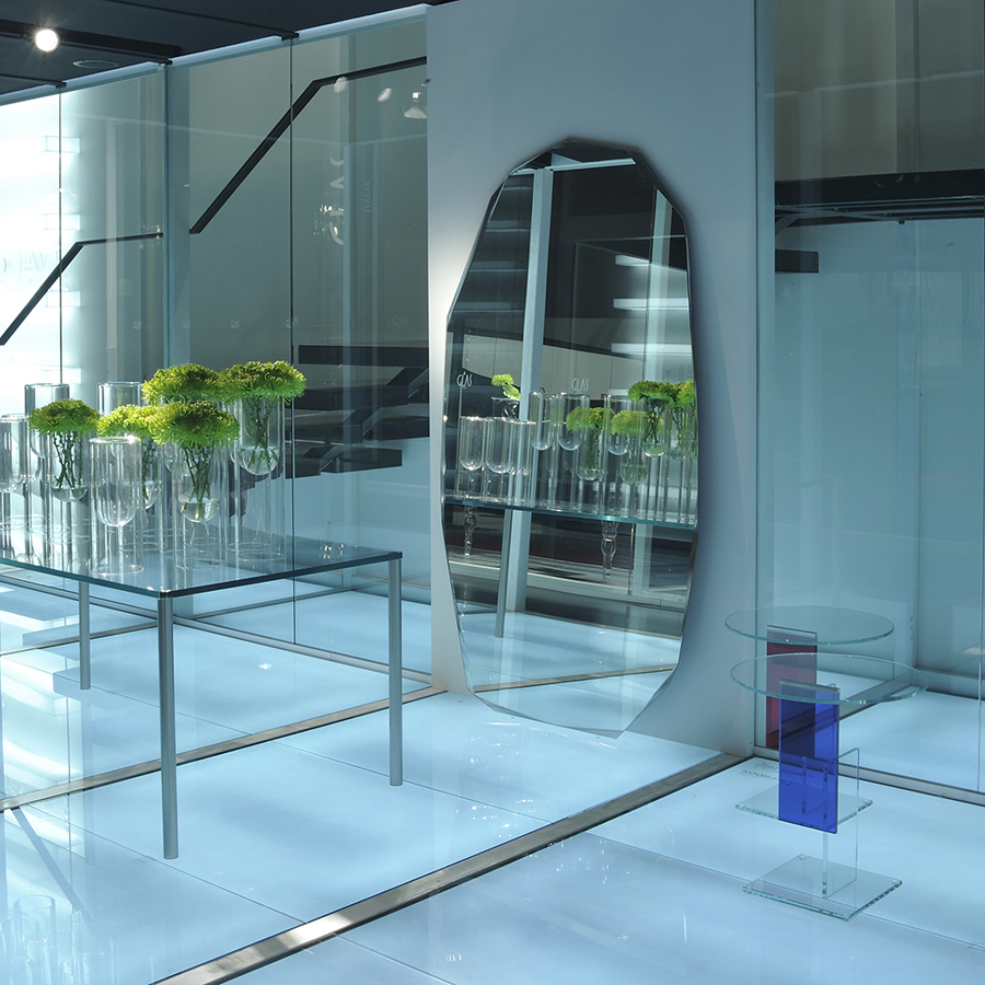 Glas Italia Kooh-I-Noor Modern Floor Standing Mirror by Piero ...