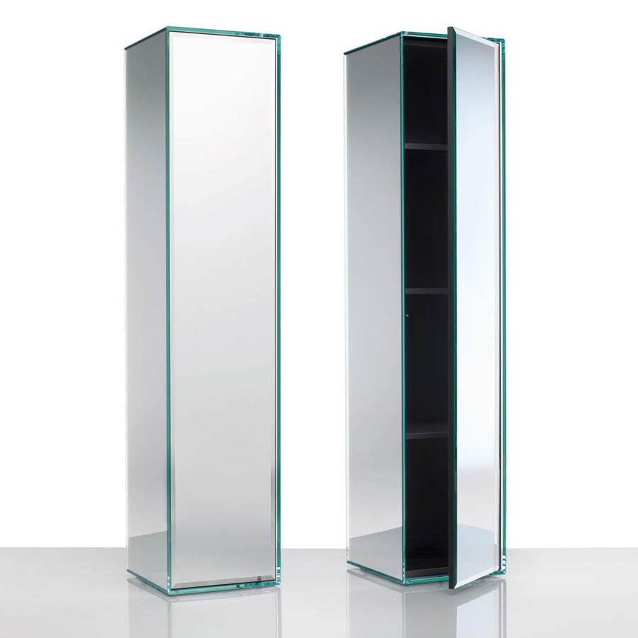 Glas Italia Prism Freestanding Mobile Storage Cabinet | Stardust