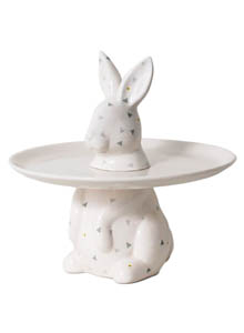 Menagerie Rabbit Decorative Serving Plate Cake Stand