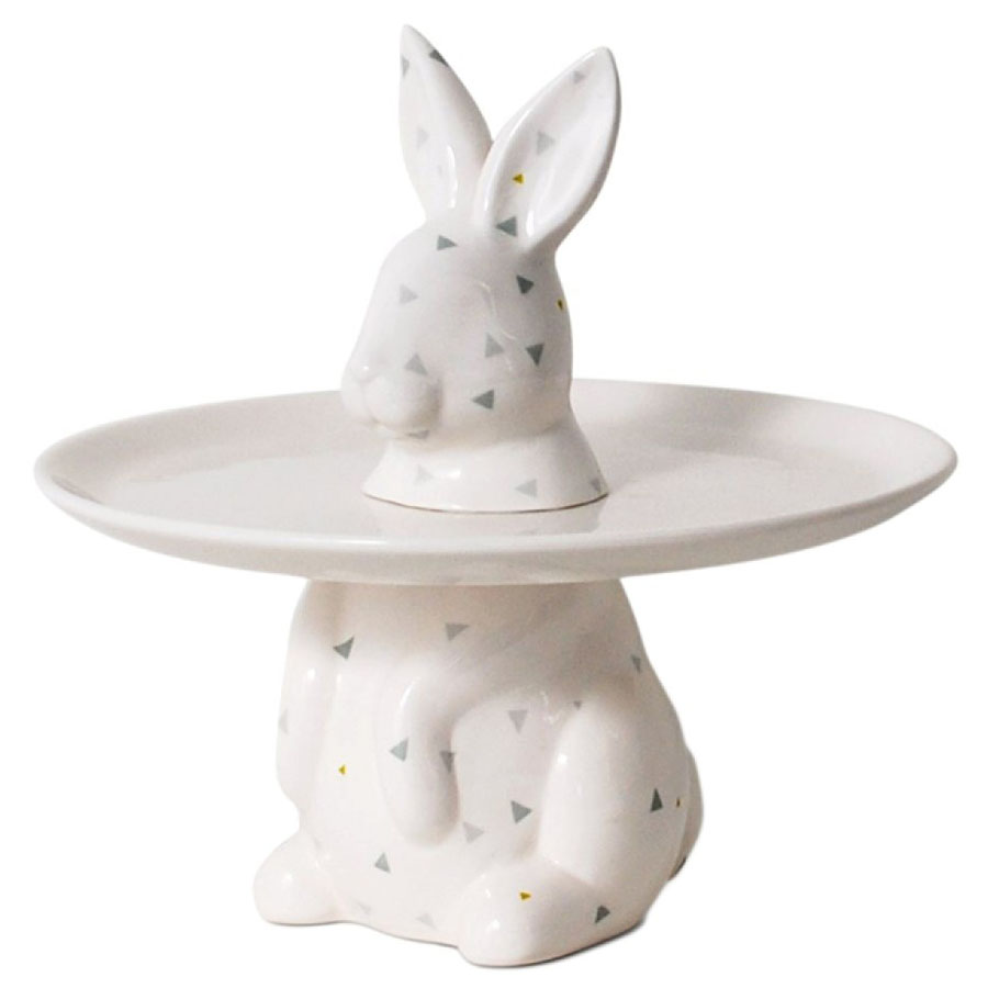 Menagerie Rabbit Decorative Serving Plate ...  sc 1 st  Stardust Modern Design & Menagerie Rabbit Decorative Serving Plate - Cake Stand | Stardust
