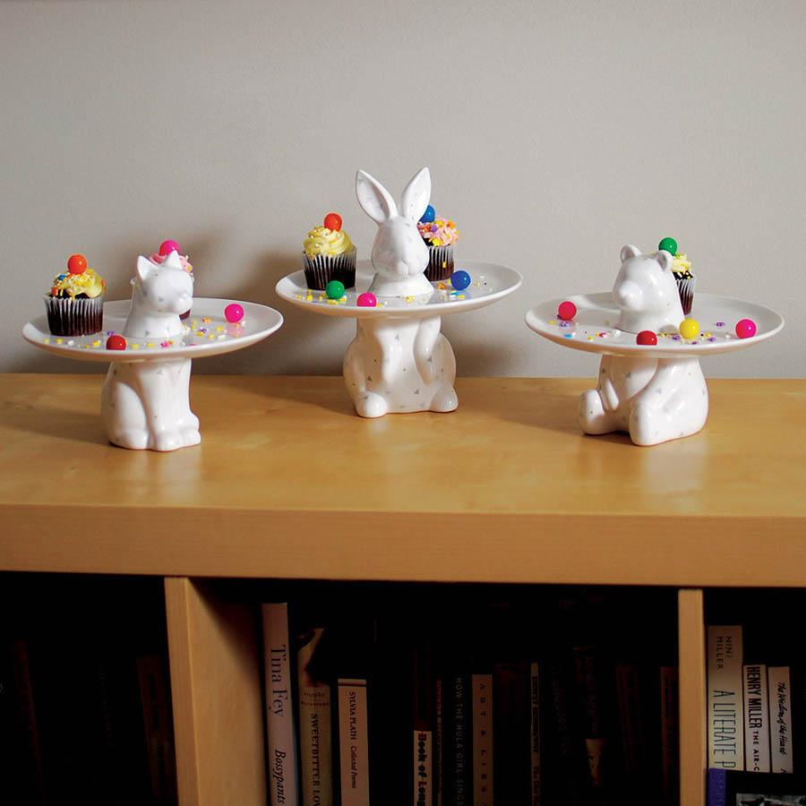 Menagerie Rabbit Decorative Serving Plate ... & Menagerie Rabbit Decorative Serving Plate - Cake Stand | Stardust