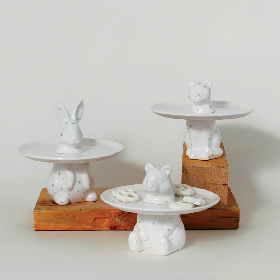 Menagerie Rabbit Decorative Serving Plate - Cake Stand & Menagerie Rabbit Decorative Serving Plate - Cake Stand | Stardust