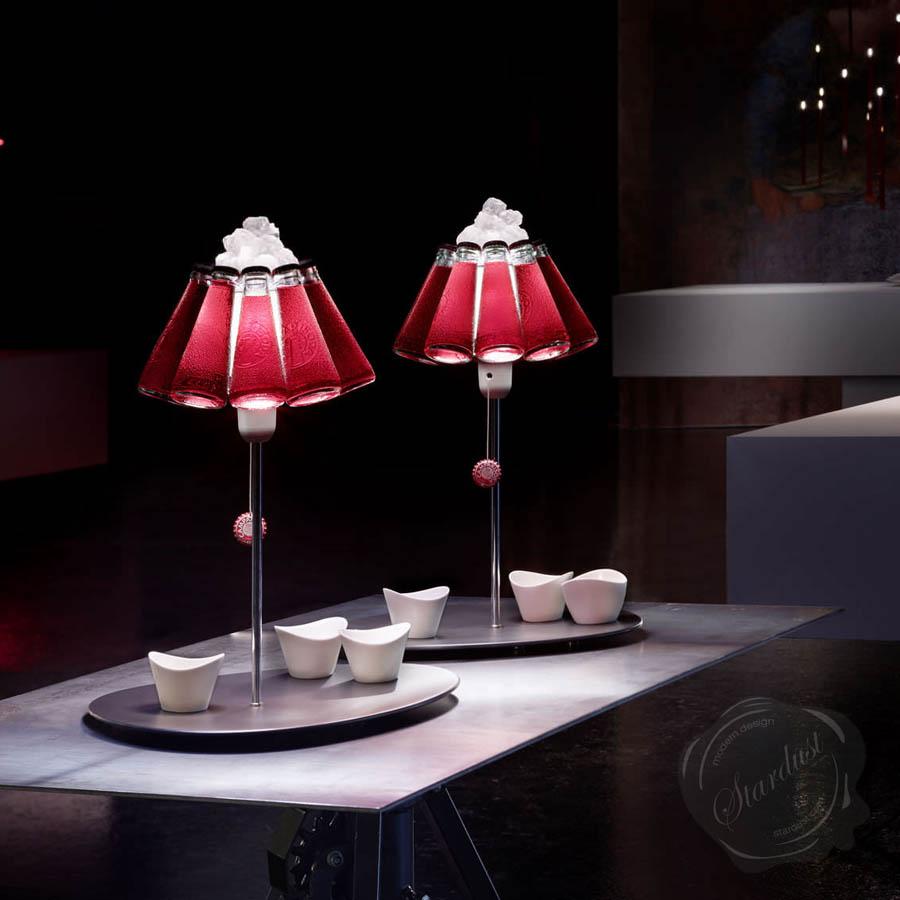 Ingo Maurer Campari Bar Table Lamp Stardust
