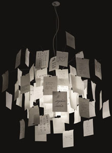 Zettel'z 5® 47.24-in White Paper Chandelier by Ingo Maurer