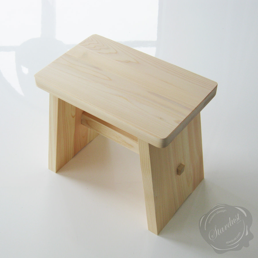 Hinoki Wooden Japanese Onsen Hot Spring Stool - Stool