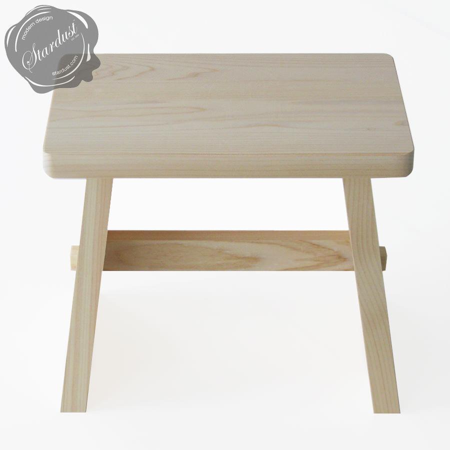 Hinoki Wooden Japanese Onsen Hot Spring Stool - Stool