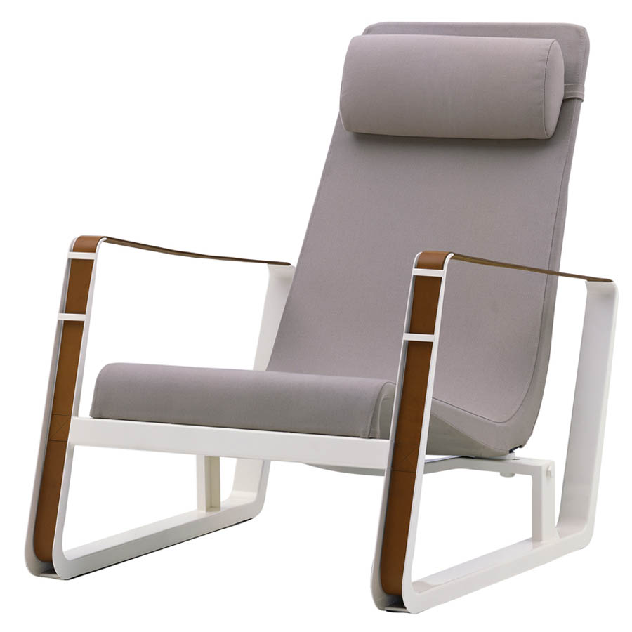 Lounge chair outdoor cape coral outdoor aluminum for Imitation chaise vitra