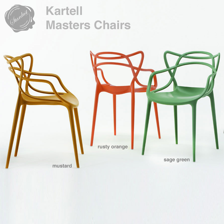 kartell modern masters chair by philippe starck stardust. Black Bedroom Furniture Sets. Home Design Ideas