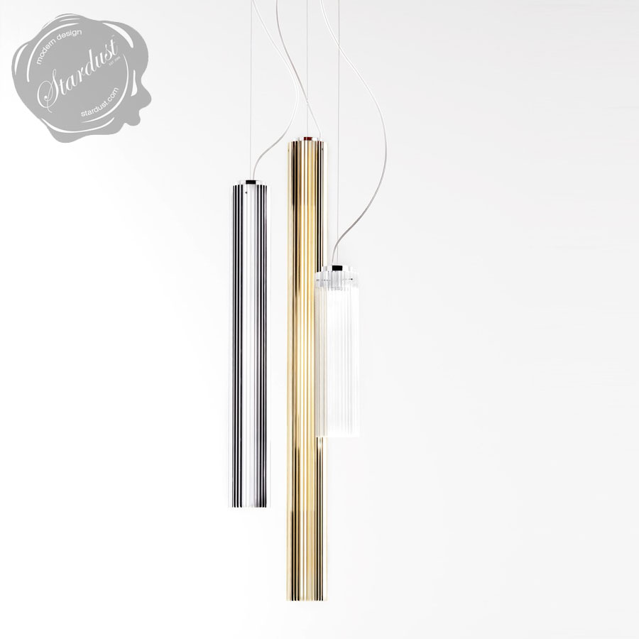 Kartell Rifly Crystal Modern Long Pendant Lamp With WLED Light - Long hanging light fixtures