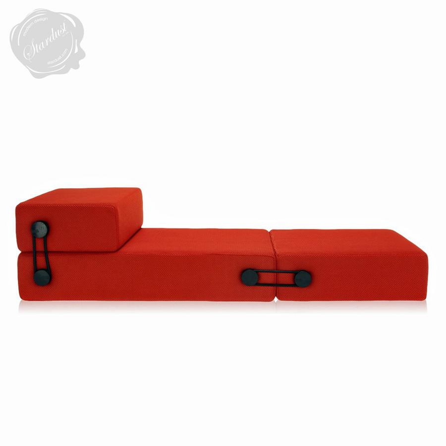 trix® convertible folding sleeper sofa guest bed  kartell - kartell trix® modern pullout futon