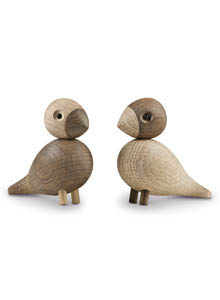 Lovebirds Wooden Danish Bird Sculptures By Kay Bojesen For