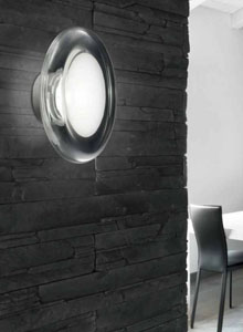 Keyra 30 60ppl Concave Gl Ceiling Wall Light By Leucos
