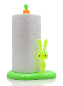 Lovely Alessi Bunny With Carrot Paper Towel Holder For Kitchen ...