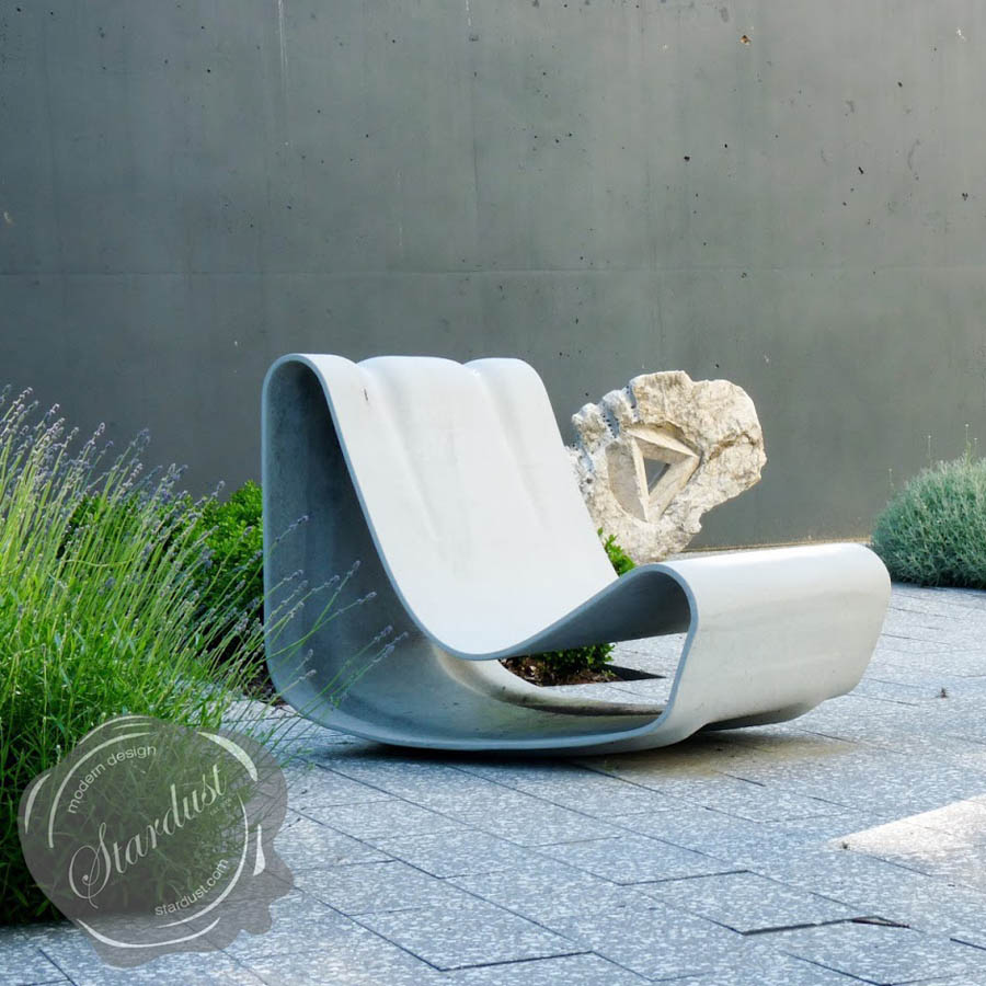 Loop Chair Modern Concrete Outdoor Chair By Willy Guhl