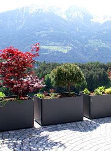Modern Outdoor Planters Rectangular Tall Planter Pot 24