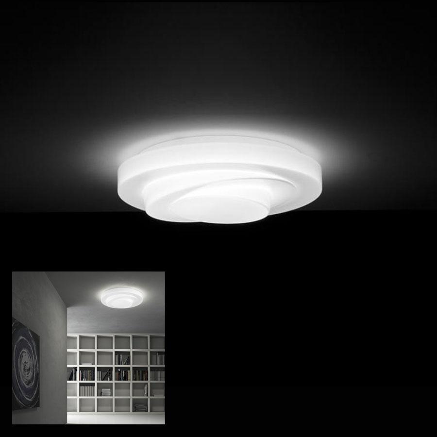 Leucos Round Murano N Gl Ceiling Light Fixture White