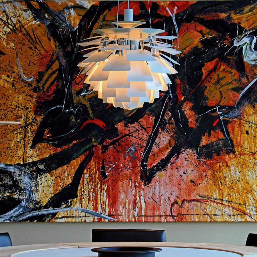 Ph artichoke white stardust louis poulsen white ph artichoke pendant lamp by poul henningsen mozeypictures Images