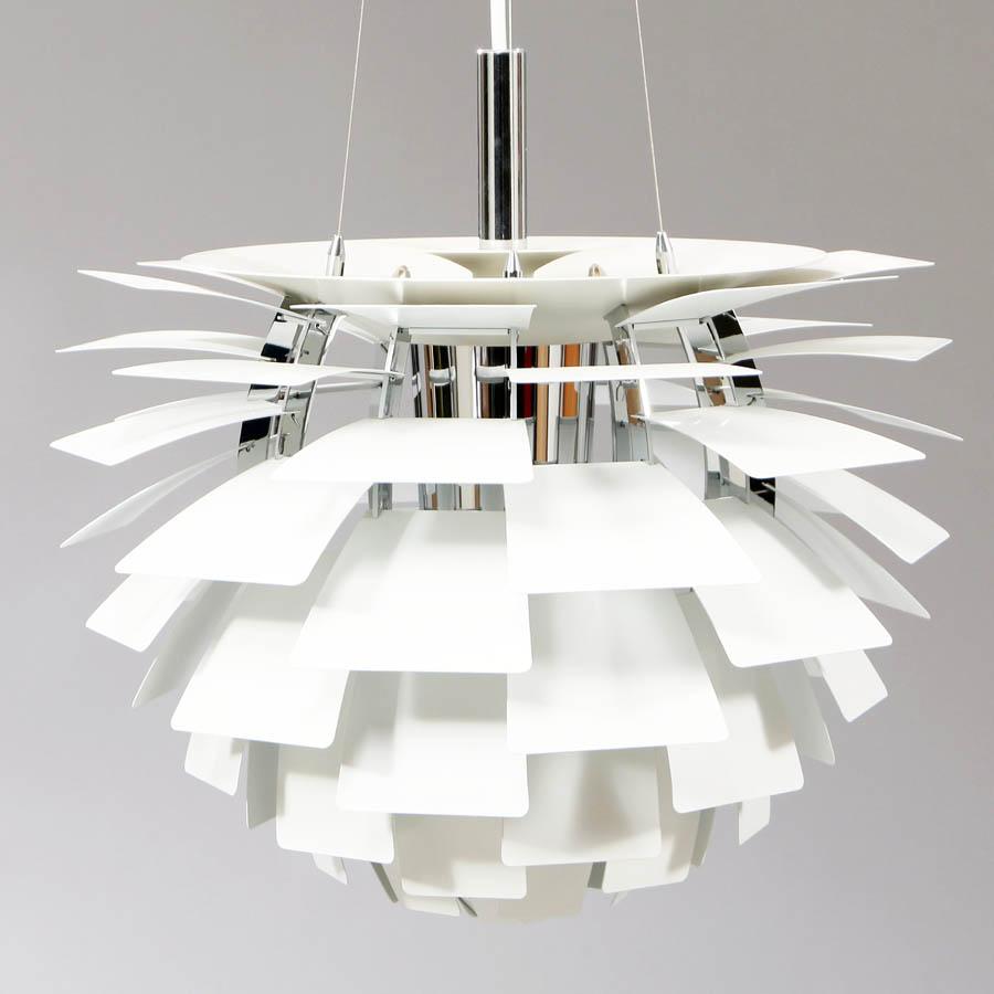 Louis Poulsen White Ph Artichoke Pendant Lamp By Poul Henningsen