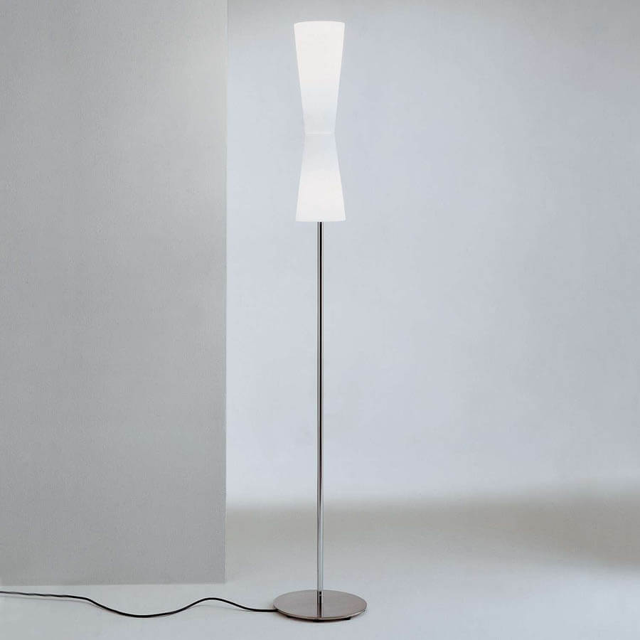 Lu lu 311 floor lamp stardust lu lu 311 modern double cone white floor lamp mozeypictures Choice Image