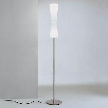 Lu lu 311 floor lamp stardust lu lu 311 modern double cone white floor lamp wglass shade aloadofball Choice Image