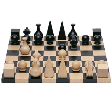 man ray modern art chess gift set | man ray wooden chess board