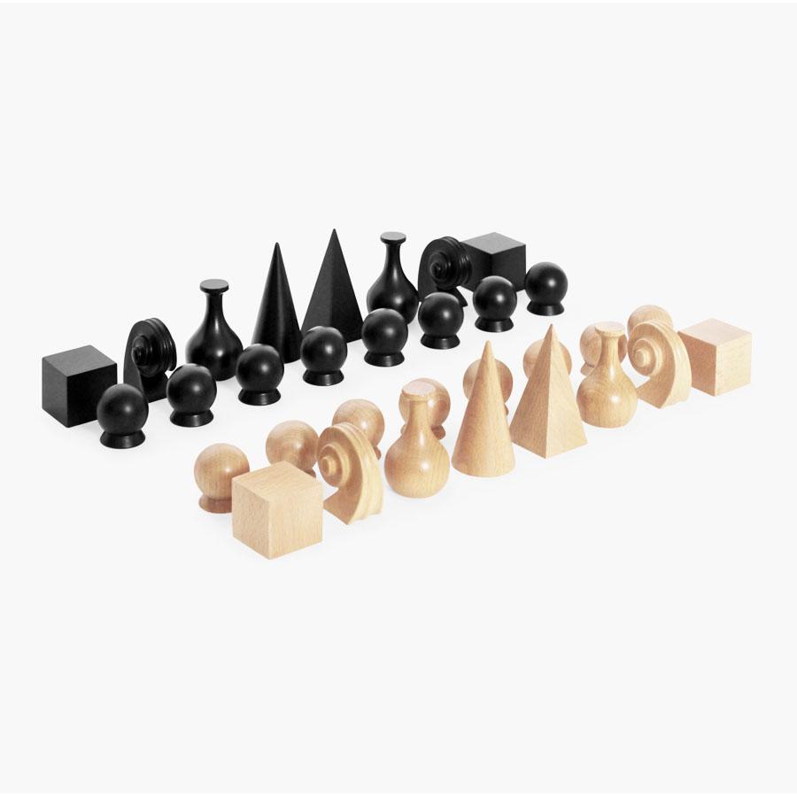 man ray modern art chess gift set  man ray wooden chess board  - man ray original chess set