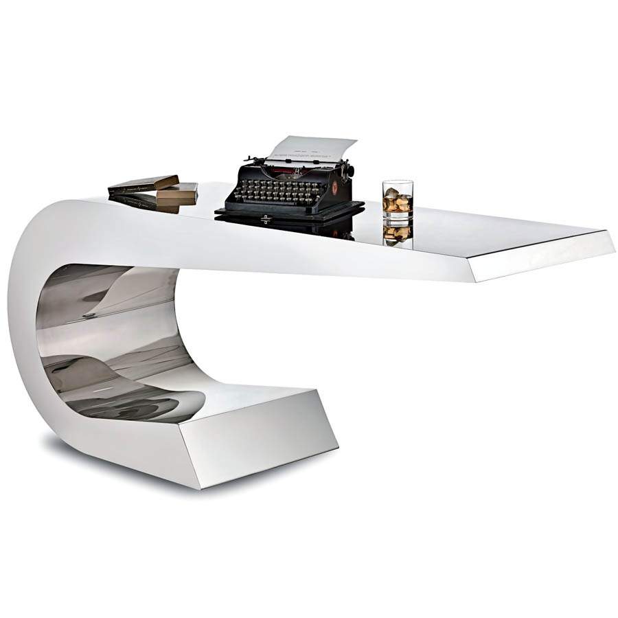 Lamberti Onda C Stainless Steel Desk