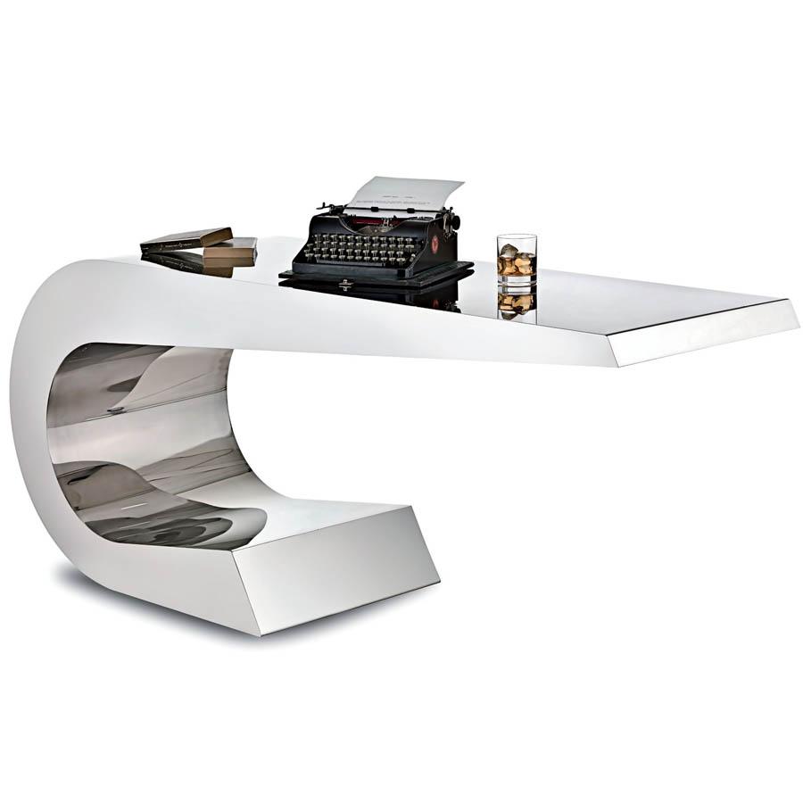 lamberti onda c stainless steel desk stardust. Black Bedroom Furniture Sets. Home Design Ideas