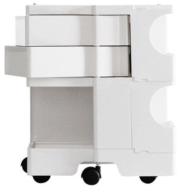 Joe Colombo Boby Mobile Office Organizer B22 2 Sections Drawers