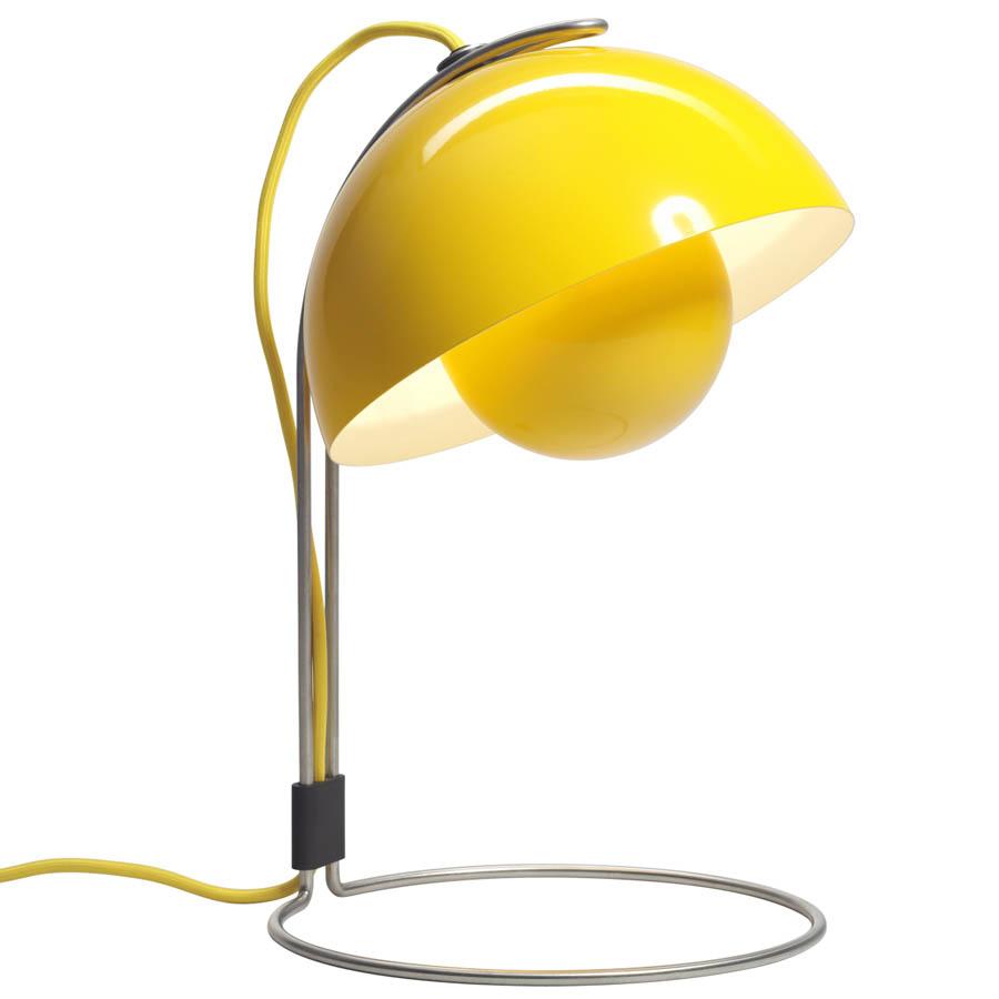 Captivating Panton Flowerpot Table Lamp VP4   Yellow ...