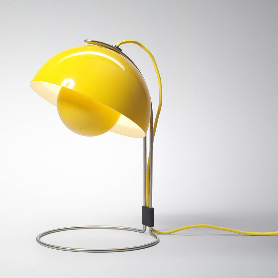 Panton flowerpot table lamp vp4 yellow