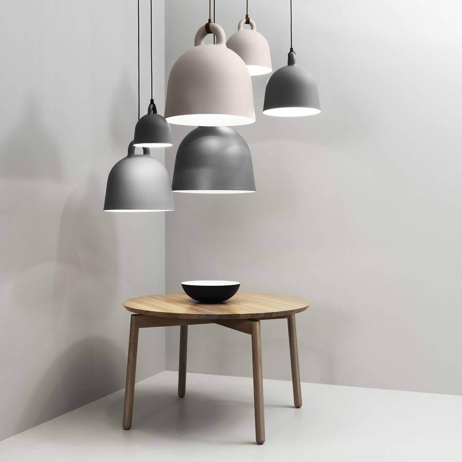 Bell lamp smallmediumlarge stardust bell modern bell shape pendant lamp by normann copenhagen aloadofball Gallery