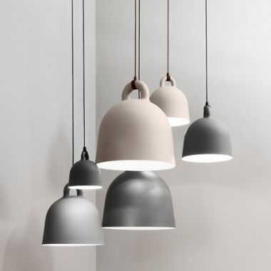 Normann Copenhagen Contemporary Bell Pendant Light with Fabric Cord ... & Normann Copenhagen Contemporary Bell Pendant Light with Fabric ... azcodes.com
