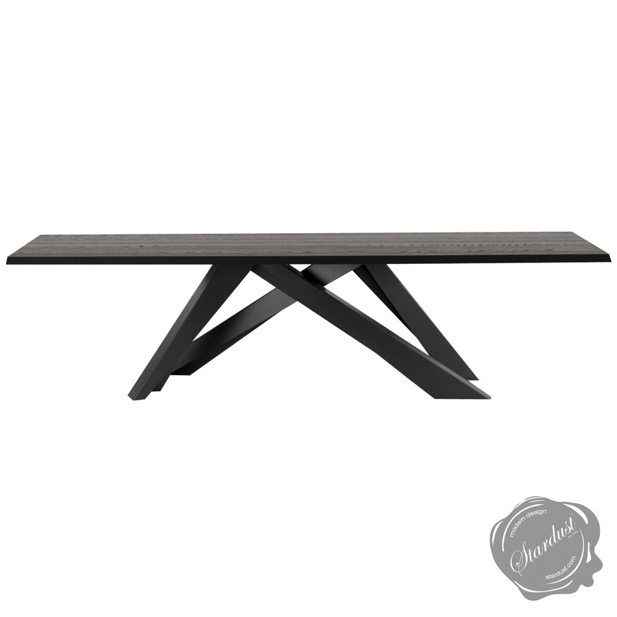 Bonaldo Big Table with Anthracite Grey Legs | Stardust