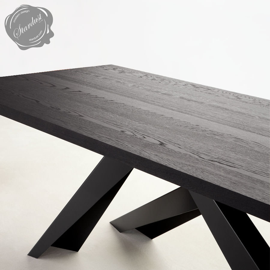 bonaldo big table with anthracite grey legs stardust. Black Bedroom Furniture Sets. Home Design Ideas
