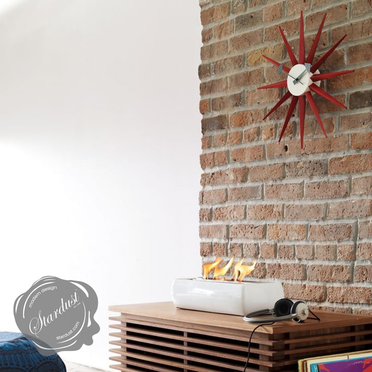 vitra nelson red sunburst wall clock