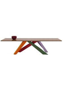 Bonaldo Big Table with Multi-Color Legs | Stardust