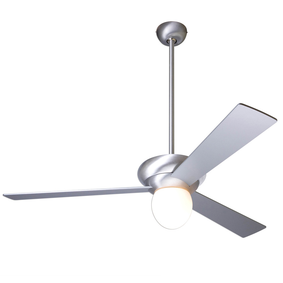 Altus ceiling fan brushed aluminum with optional light Modern white ceiling fan