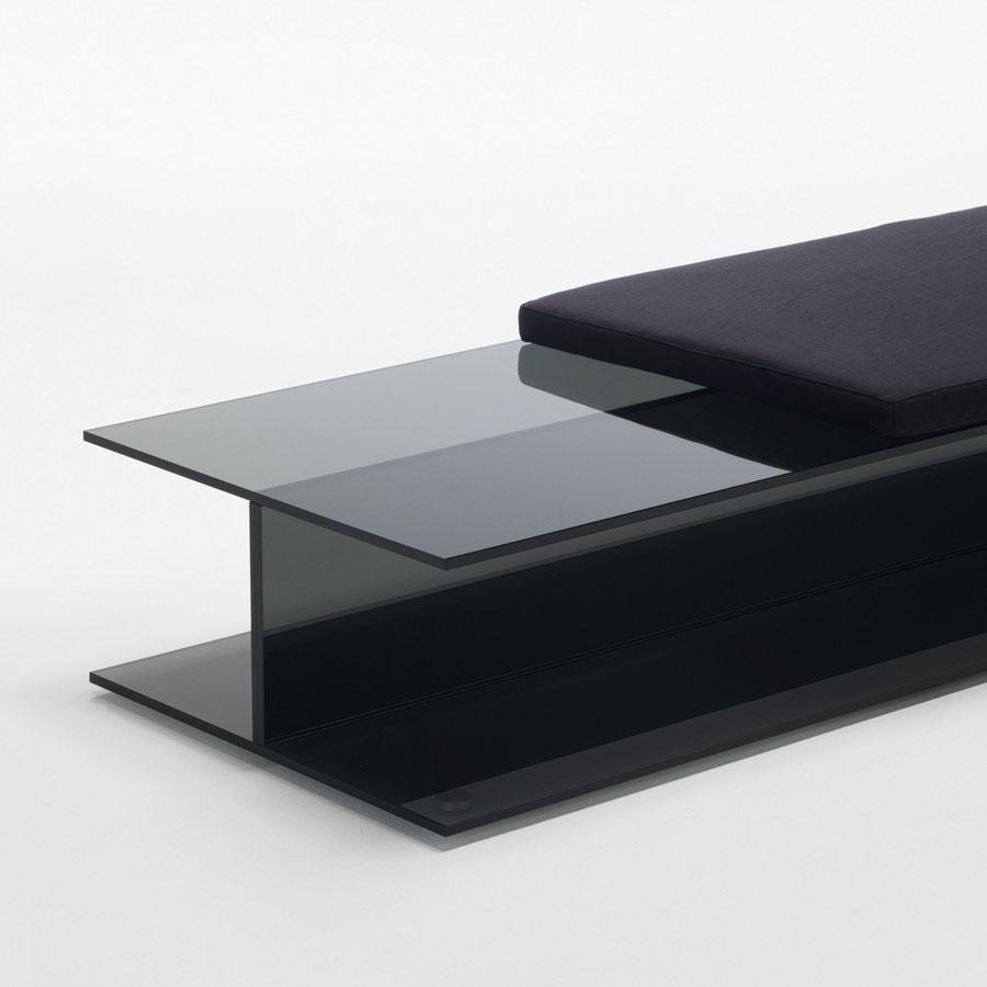 Glas Italia I Beam Glass Bench By Jean Marie Massaud