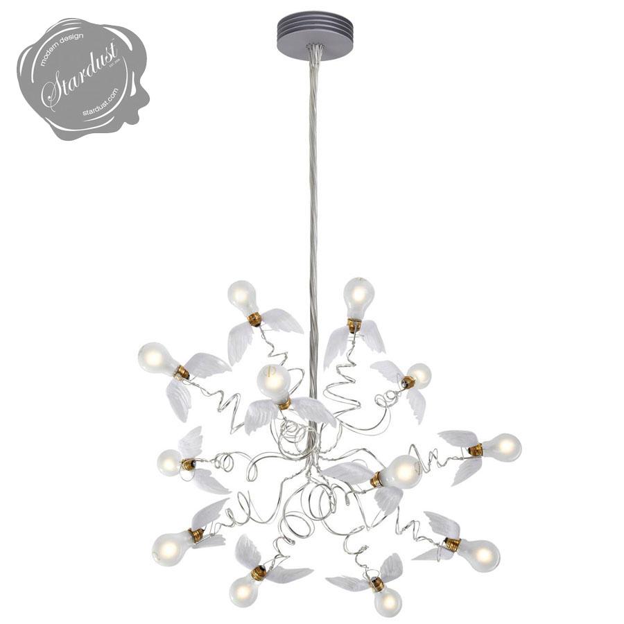 Ingo mauer birdie chandelier with transparent cables stardust birdie chandelier arubaitofo Gallery