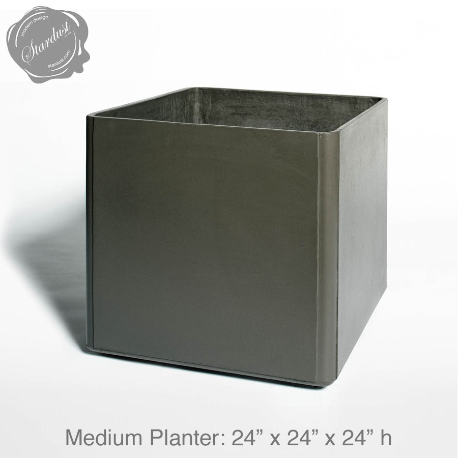 mid century modern pots and planters square planter  h  stardust - mid century modern pots