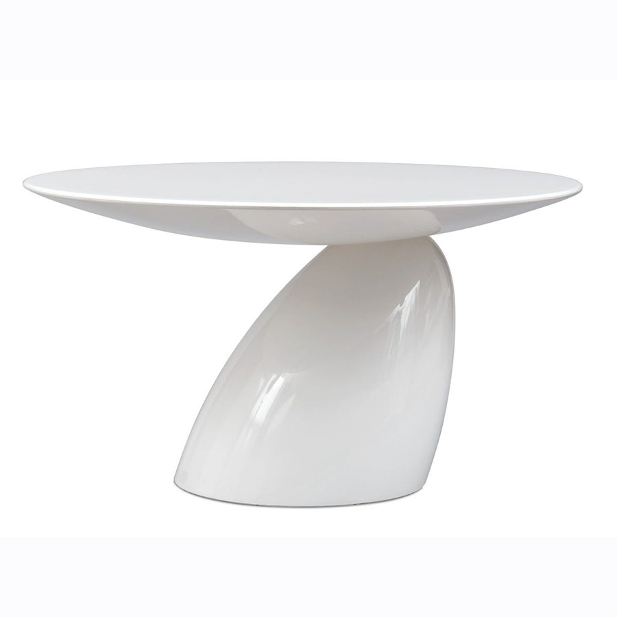 Eero Aarnio Parabel Table By Adelta White Round