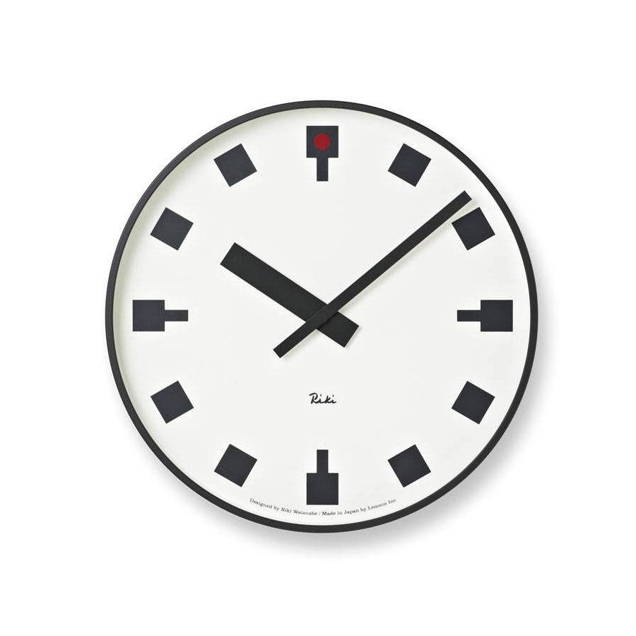 Anese Railway Station Wall Clock By Riki Watanabe