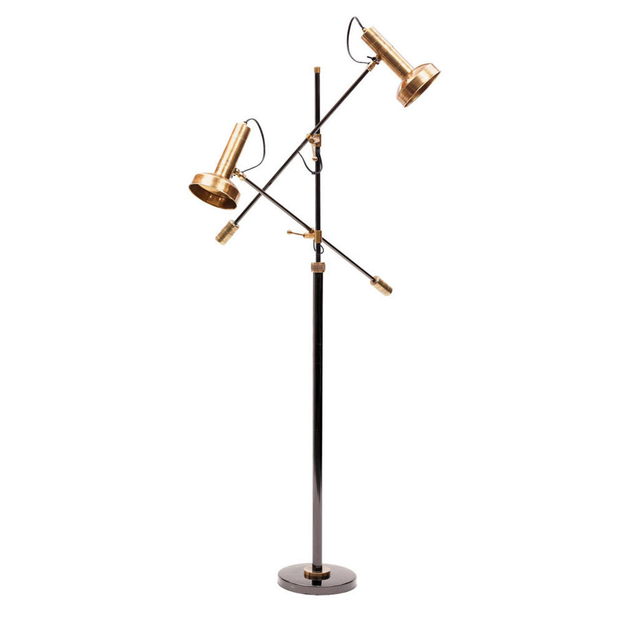 Pin contemporary floor lamp with wooden base unique