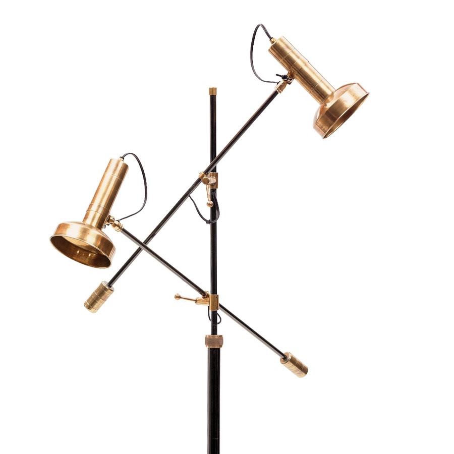 modern triennale floor lamp milano in brass  stardust - modern triennale floor lamp