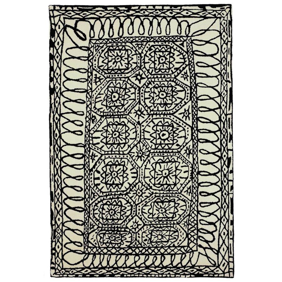 nanimarquina estambul contemporary black and white area rug in  - nanimarquina estambul contemporary