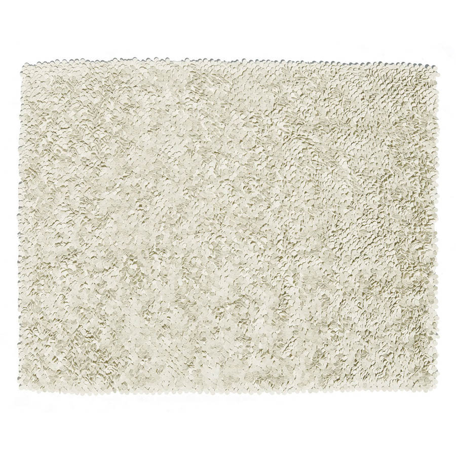 Nanimarquina Roses Rug High Pile Felt Area In Ivory