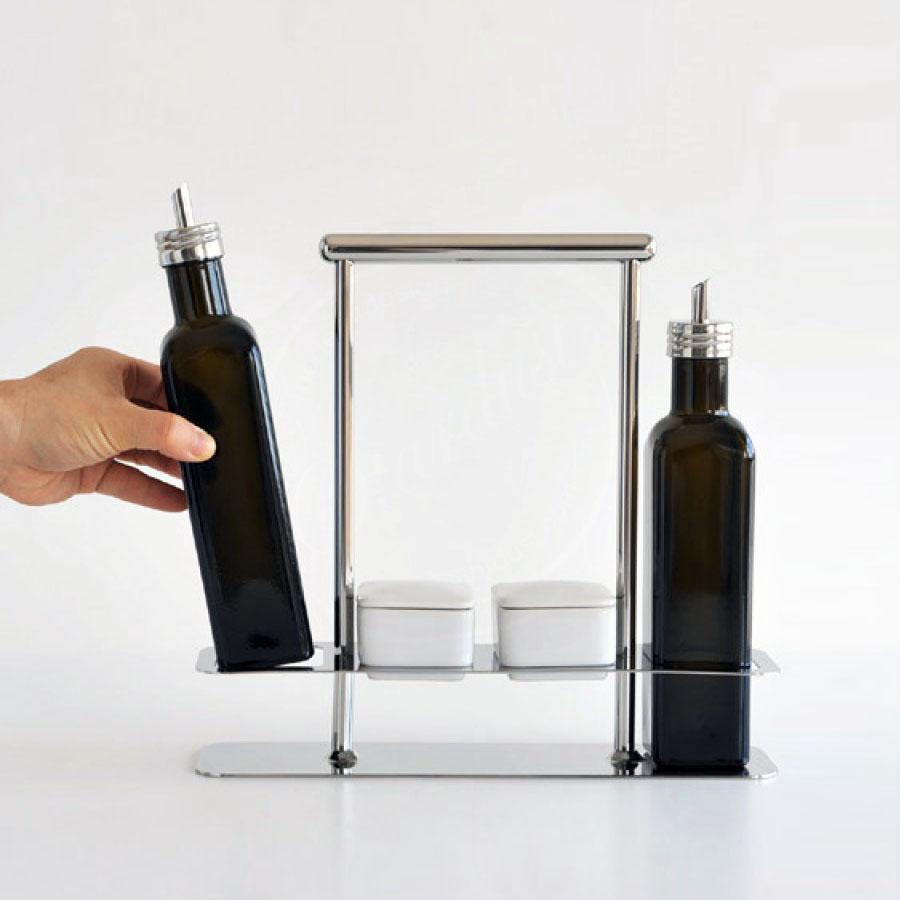 Greatest Alessi AB12 Trattore Italian Olive Oil Vinegar Cruet Set, Glass  PL01